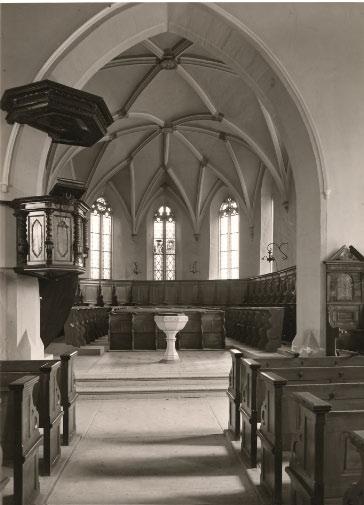 Chor vor der Innenrenovation 1974