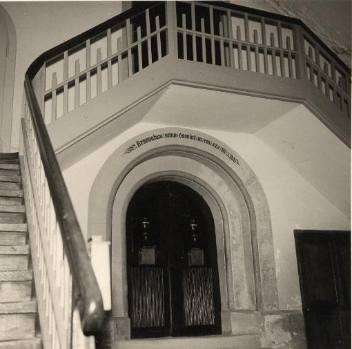 Vorzeichen vor der Aussenrenovation 1957