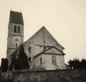 Evangelische Kirche Gachnang: Westansicht 1933